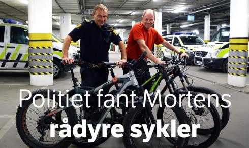 Frastjålet fire sykler for 160.000 – så fant politiet tre av dem