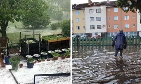 Åska och skyfall skapade kaos i Linköping