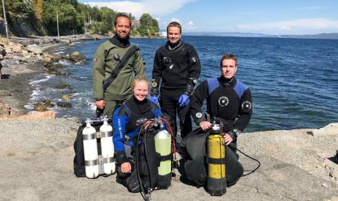 – Kvifor fare til Syden for å dykke, når ein kan dra til Svestad?