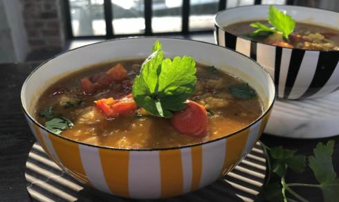 Glutenfri og kjøttfri suppe