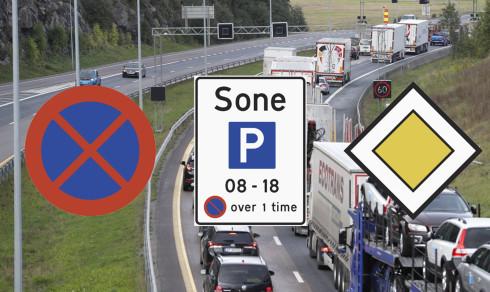 Quiz: Hva betyr trafikkskiltene?