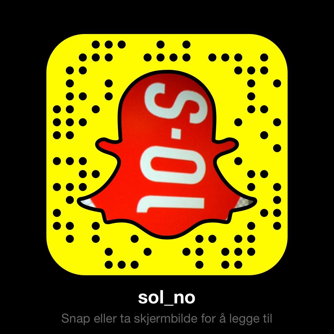Legg til sol_no på SnapChat
