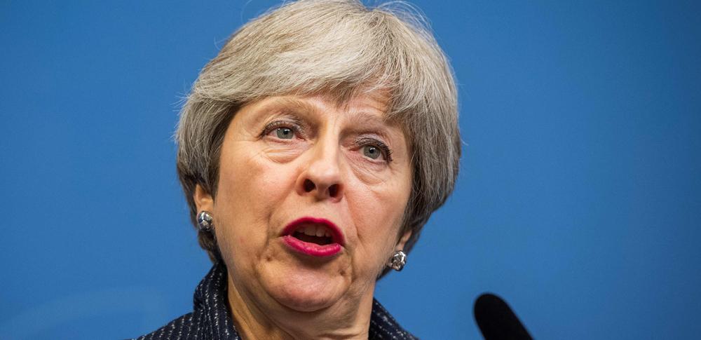 Storbritannias statsminister Theresa May. (FOTO: Jonathan Nackstrand, AFP)