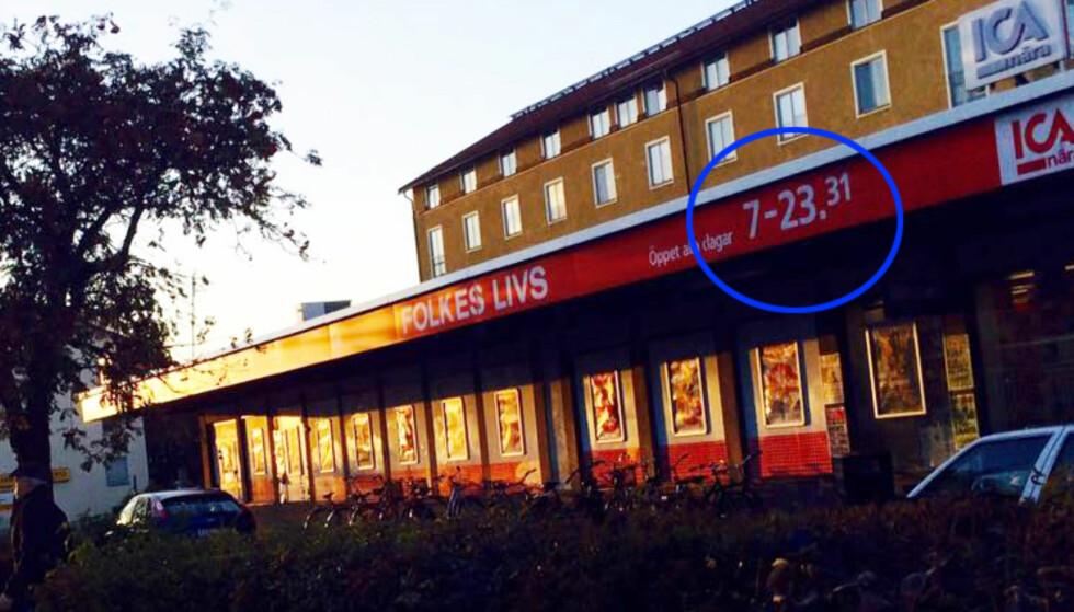 Derfor har denne Ica-butikken tidenes merkeligste åpningstider
