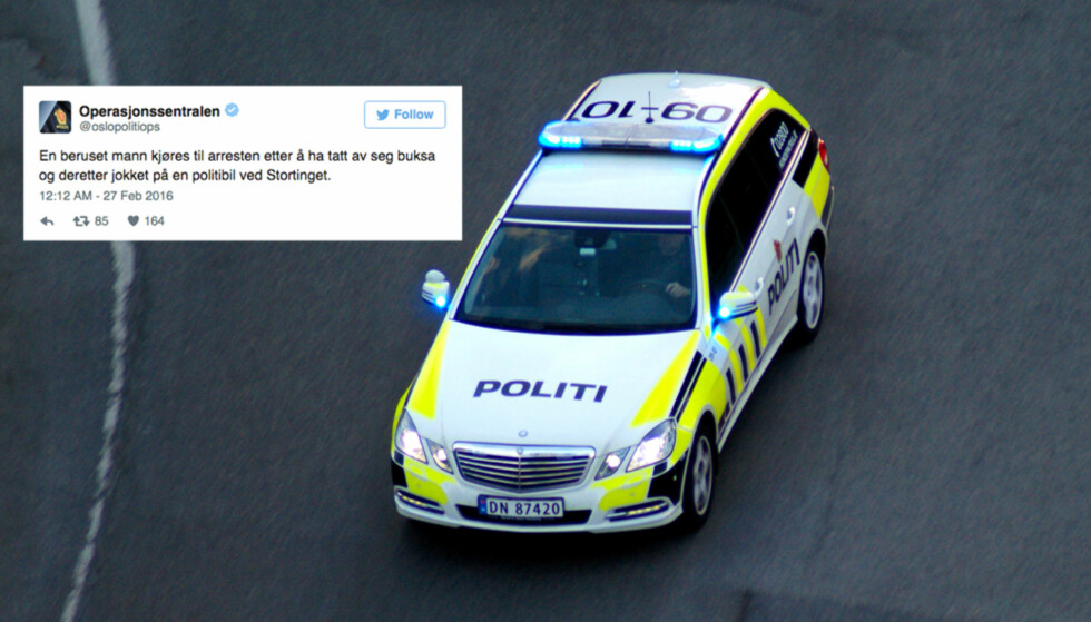 Dette er noen av politiets mest hysteriske Twitter-meldinger