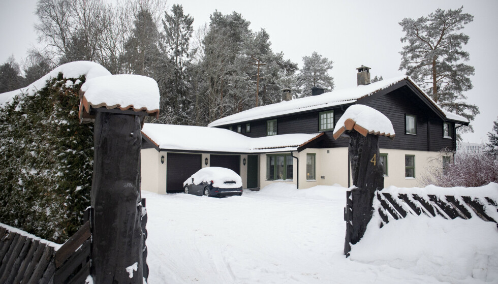 Eiendommen til Tom og Anne-Elisabeth Hagen i Sloraveien på Fjellhamar. Foto: Fredrik Hagen / NTB scanpix