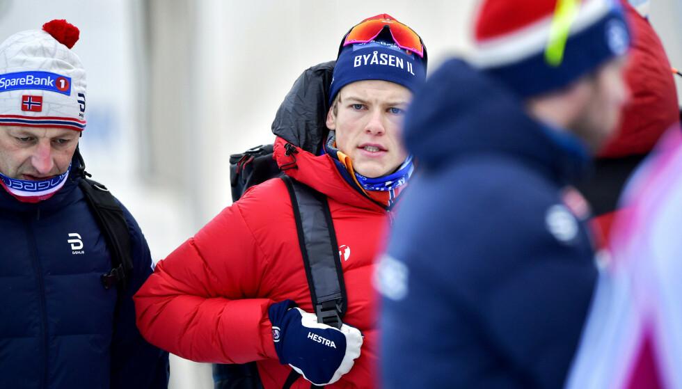 Johannes Høsflot Klæbo vant gull på sprinten i OL i fjor, men er forberedt på at det blir tøffere å gjenskape suksessen i VM. (Foto: Ole Martin Wold / NTB scanpix)