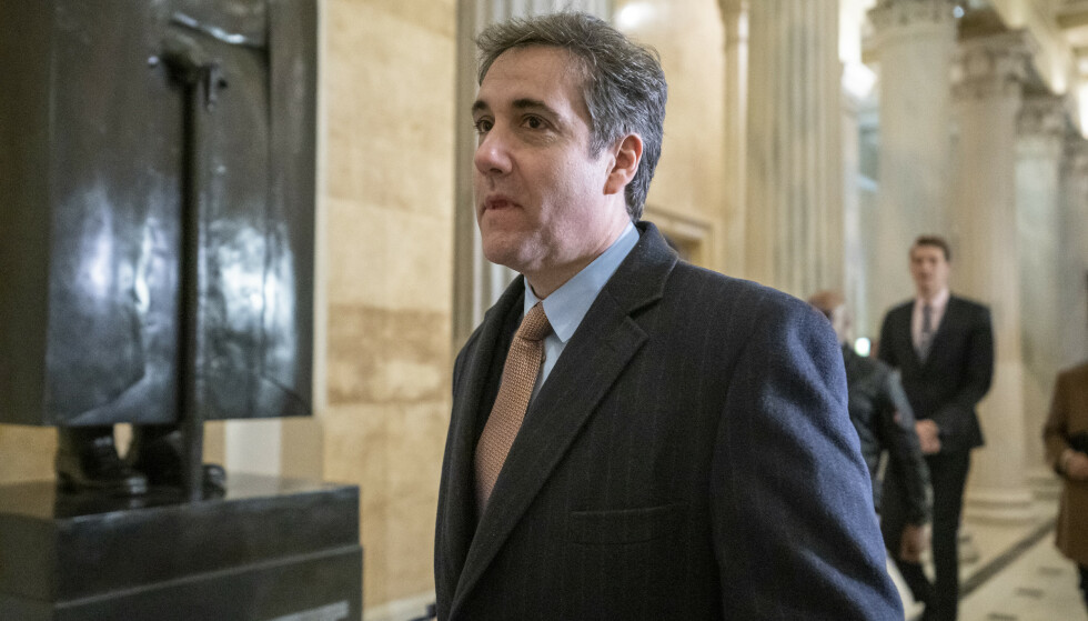 Michael Cohen går til søksmål mot Trump Organization. Foto: AP / NTB scanpix