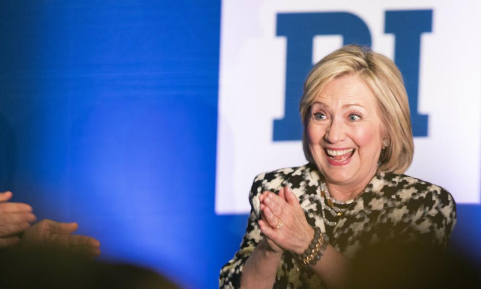 USAs tidligere utenriksminister, senator og førstedame Hillary Rodham Clinton på Handelshøyskolen BI som hovedtaler under en internasjonal konferanse om kvinners deltakelse i arbeidslivet. Foto: Berit Roald / NTB scanpix