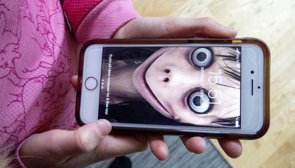 GIKK VIRALT: Mange har blitt skremt av nettfenomenet Momo. Faktisk.no går fenomenet etter i sømmene. FOTO: Scanpix
