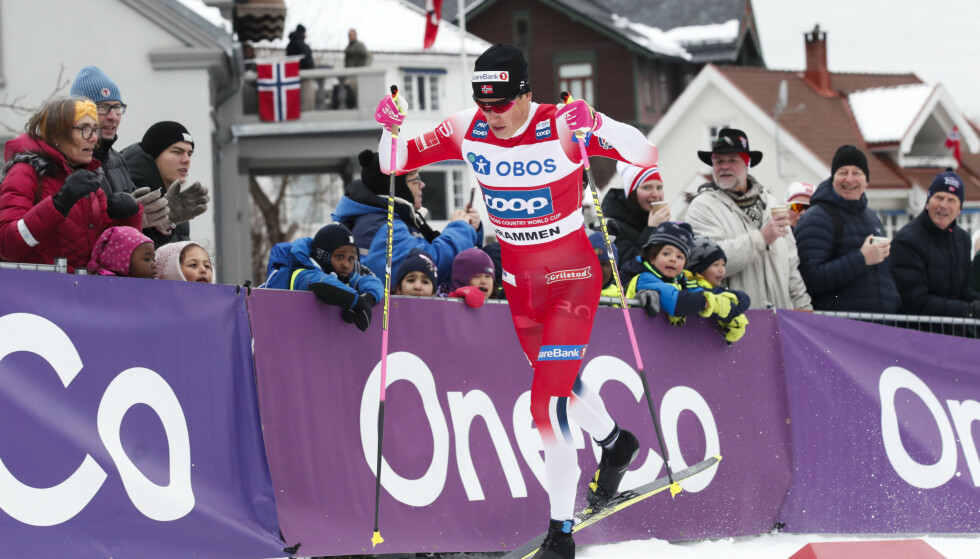 DRAMMEN: Klæbos tid var 3,54 sekunder raskere enn nestemann på lista. Foto: Terje Bendiksby / NTB scanpix.