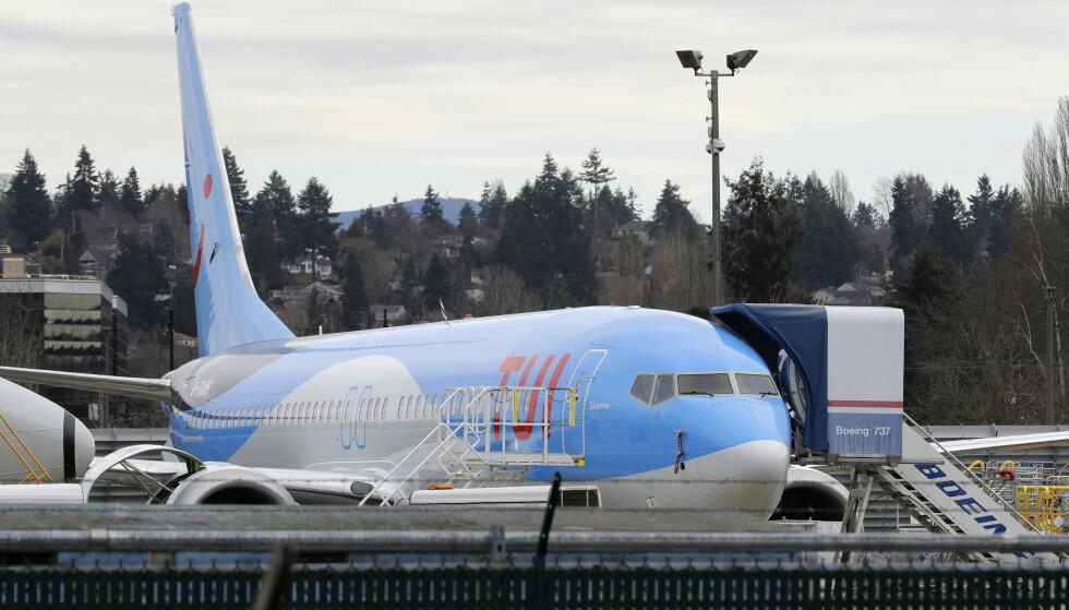 President Trump har bestemt at flyene av modellen Boeing 737 Max 8 og 9 skal midlertidig settes på bakken i USA. Foto: AP Photo/Ted S. Warren