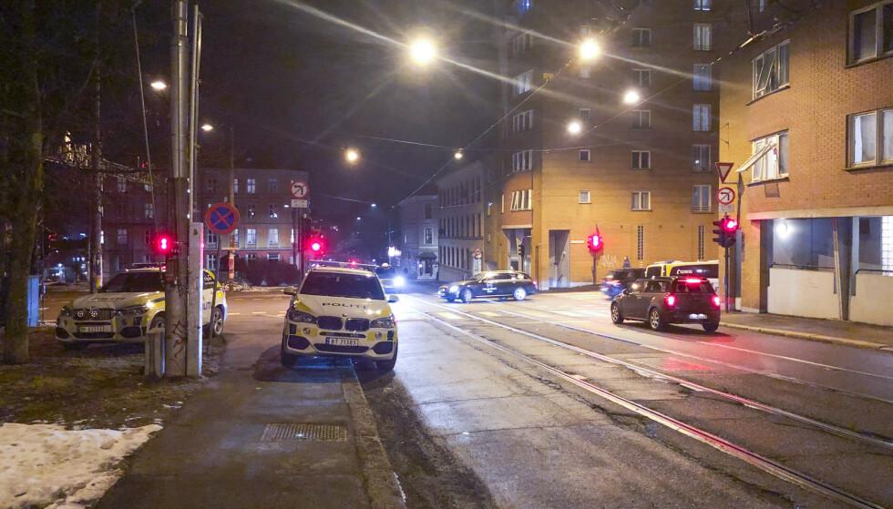 En mann ble funnet med kuttskader i en leilighet i Vogts gate på Torshov. Han er lettere skadd. To personer er pågrepet i saken. Foto: Ørn E. Borgen / NTB scanpix