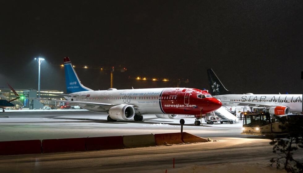 Elleve av Norwegians flygninger er kansellert i helgen etter at flytypen Boeing 737 MAX 8 denne uken ble satt på bakken. Foto: Cornelius Poppe / NTB scanpix