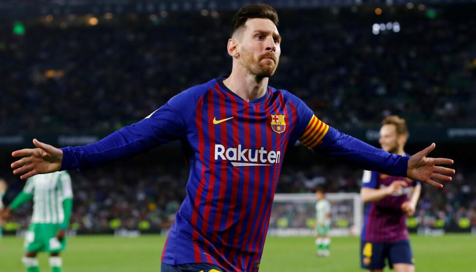 Lionel Messi storspilte for Barcelona søndag. Foto: REUTERS/Marcelo del Pozo/NTB Scanpix