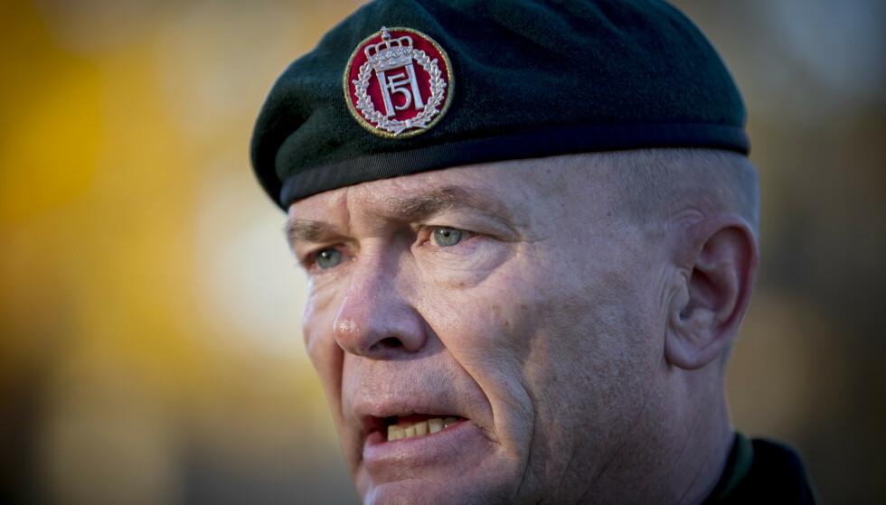 Sjefen for Hæren, generalmajor Odin Johannessen, er kritisk til at Norge ikke møter NATOs styrkemål. Han mener det undergraver alliansens troverdighet. Foto: Heiko Junge / NTB scanpix