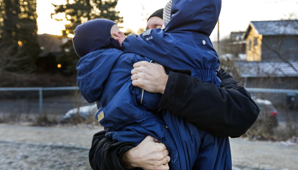 Barnefamilier får 84 kroner ekstra for hvert barn når den månedlige barnetrygden økes. Den første utbetalingen kommer 29. mars. Foto: Gorm Kallestad / NTB scanpix