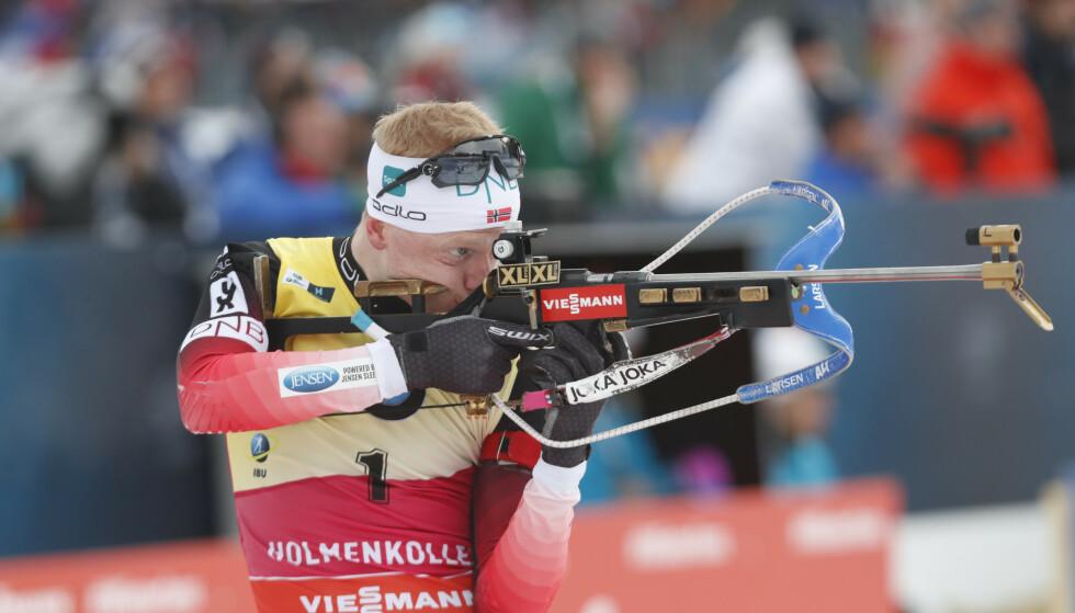TIL TOPPS: Med 20 treff var ingen i nærheten av å true verdens klart beste skiskytter. Foto: Terje Bendiksby / NTB scanpix.