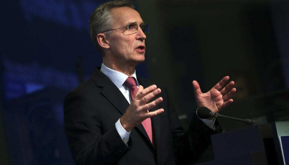 Stoltenberg fortsetter som generalsekretær i NATO til 2022. Foto: AP Photo/Francisco Seco