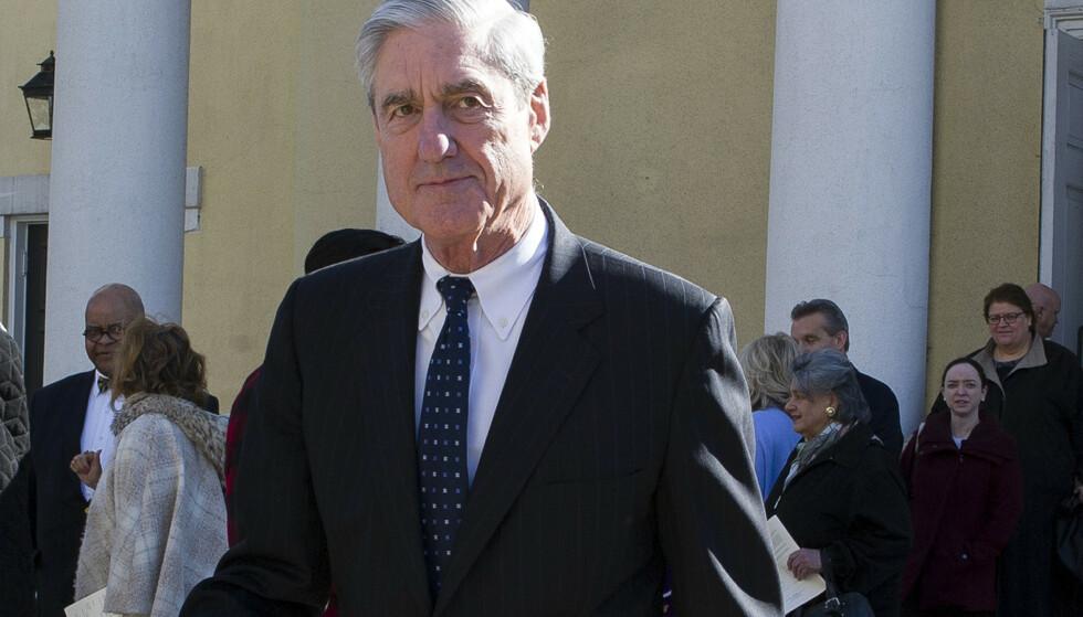 Muellers sluttrapport er fortsatt hemmelig og vil etter alle solemerker bli gjenstand for en hard politisk og juridisk dragkamp. Demokratene i Kongressen har krevd tilgang til alt materialet i Muellers etterforskning, inkludert bevisgrunnlaget. Foto: Cliff Owen / AP / NTB scanpix