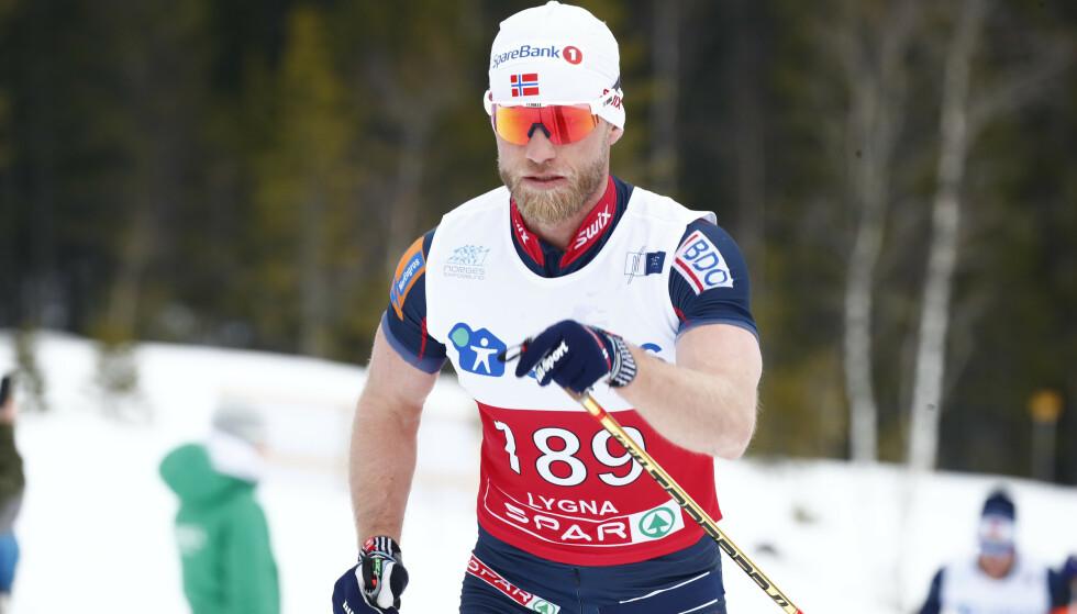 Martin Johnsrud Sundby under 50 km i NM på ski på Lygna. Foto: Terje Pedersen / NTB scanpix