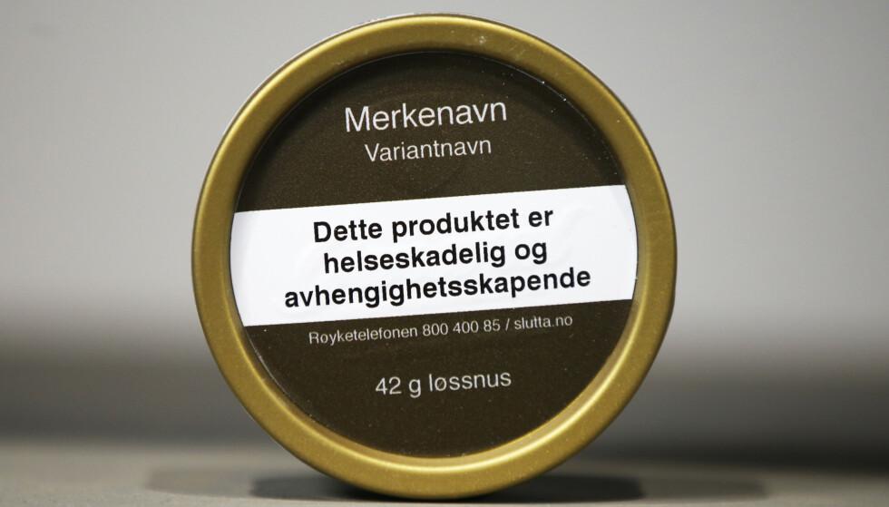 Det blir ikke forbud mot smakstilsetning i snusbokser. Foto: Marianne Løvland / NTB scanpix