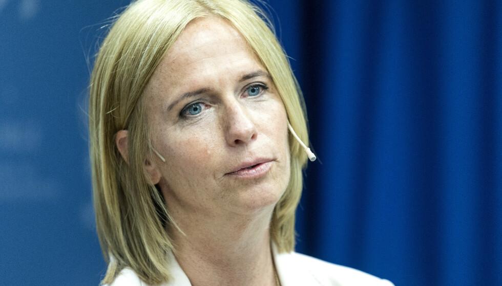 Barneombud Inga Bejer Engh sier det er nødvendig å intensivere arbeidet for å beskytte barn mot overgrep på nett. Foto: Gorm Kallestad / NTB scanpix