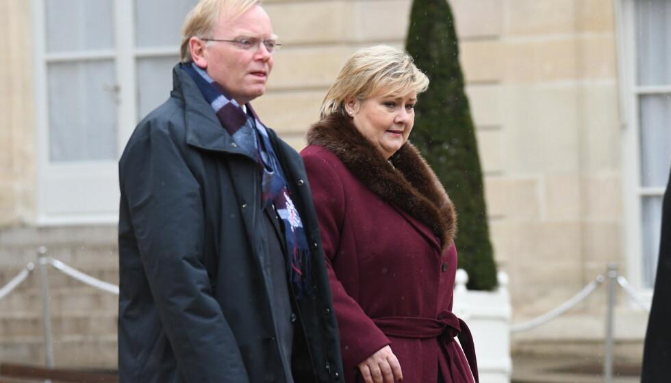 Erna Solberg og Sindre Finnes giftet seg i Paris i 1996. Foto: Johan Falnes / NTB scanpix