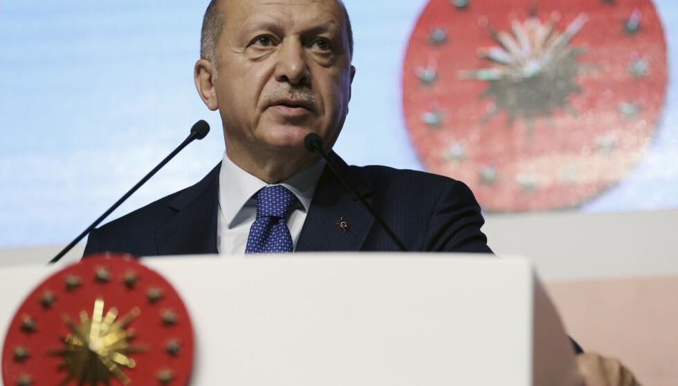 Erdogan krever omvalg i Istanbul. Foto: Presidential Press Service via AP, Pool / NTB scanpix