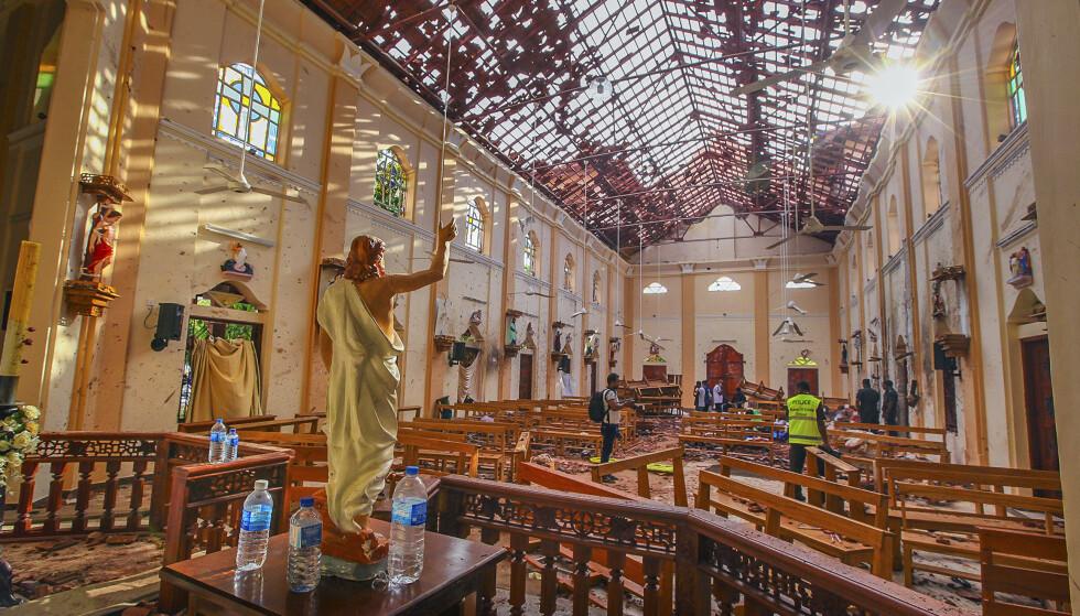 Kirken St. Sebastian i Negombo var ett av stedene der selvmordsbomberne slo til første påskedag. Foto: Chamila Karunarathne / AP / NTB scanpix