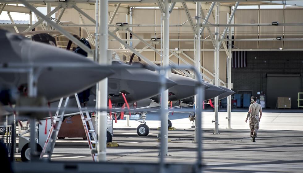 Regningen for Norges 45 nye kampfly, amerikanske F35, er nå oppe i 97 milliarder kroner. Foto: Mads Claus Rasmussen / NTB scanpix