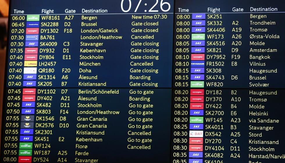Pilotene og SAS må møte hos Riksmekleren onsdag. Om de ikke blir enige innen fredag blir tre av fire fly stående på bakken. Foto: Terje Pedersen / NTB scanpix