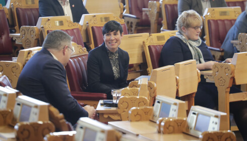Utenriksminister Ine Eriksen Søreide (H) fikk onsdag spørsmål om hvorvidt regjeringen var kjent med at det var foreldreløse norske barn i syriske flyktningleirer allerede før norske medier omtalte saken. Foto: Cornelius Poppe / NTB scanpix
