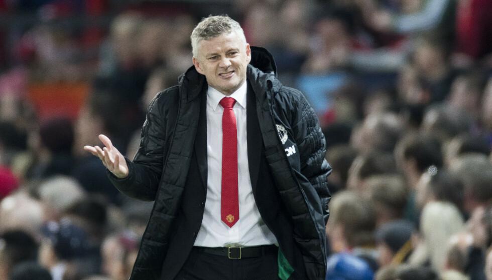 Manchester- United-manager Ole Gunnar Solskjær har det tøft om dagen. Foto: Terje Pedersen / NTB scanpix