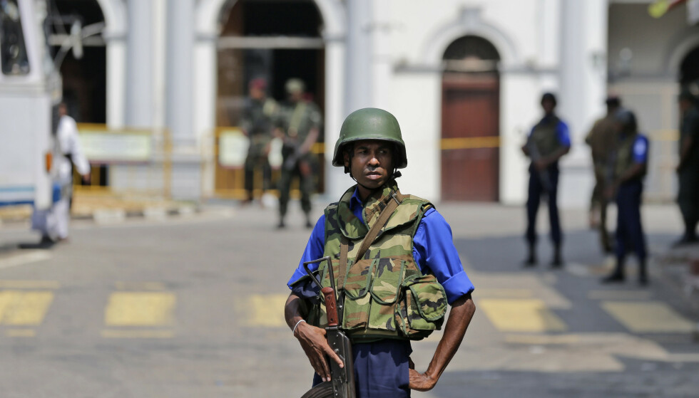 Sikkerheten er trappet ogg i Sri Lankas gater. Foto: AP Photo/Eranga Jayawardena / NTB scanpix