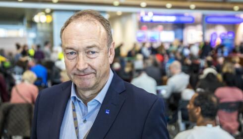 – Det er en trist dag for SAS, sier pressesjef Knut Morten Johansen i SAS. Foto: Ole Berg-Rusten / NTB scanpix