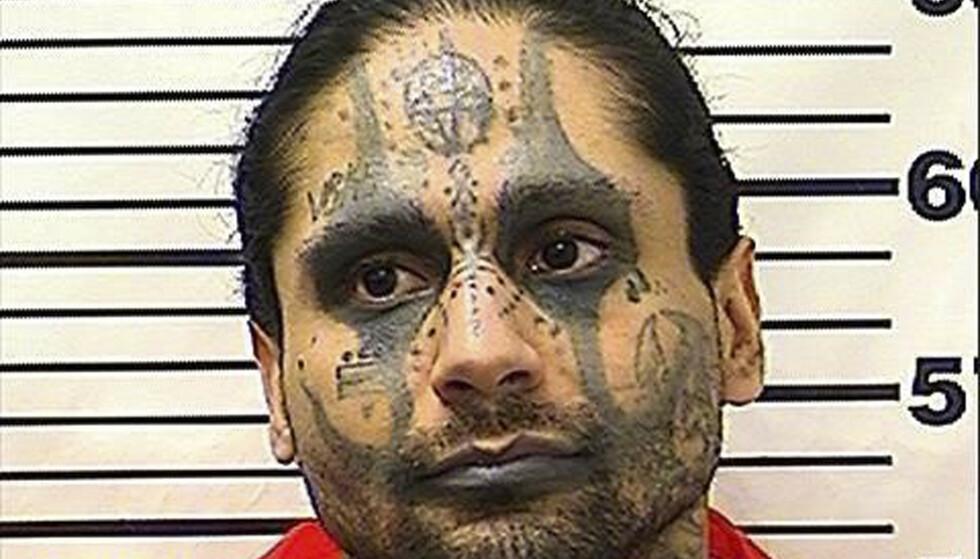 Drapsdømte Jaime Osuna er tiltalt for å ha torturert, partert og drept mannen han delte celle med i Corcoran State Prison i California. Foto: California Department of Corrections and Rehabilitation / AP / NTB scanpix