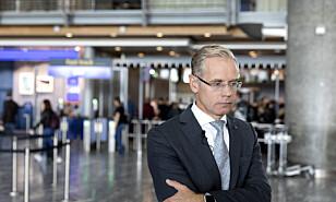 SAS-sjef Richard Gustafson sier streiken i SAS nå må få en slutt. Her er han avbildet på Gardermoen i 2017. Foto: Gorm Kallestad / NTB scanpix