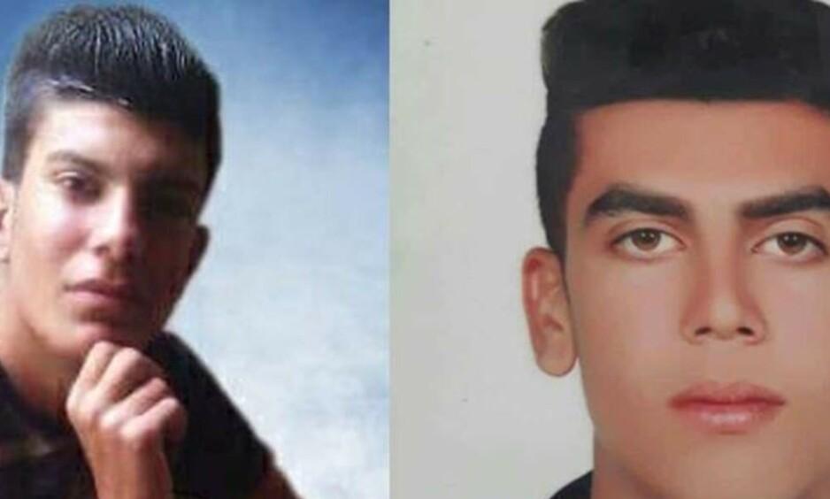 Mehdi Sohrabifar og Amin Sedaghat skal ha blitt pågrepet som 15-åringer og henrettet før de fylte 18 år, ifølge Amnesty. Foto: Amnesty.