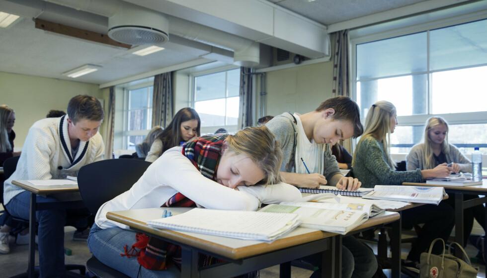 Omtrent én av tre studenter oppgir at de sliter med nattesøvnen. Foto: Berit Roald / NTB scanpix