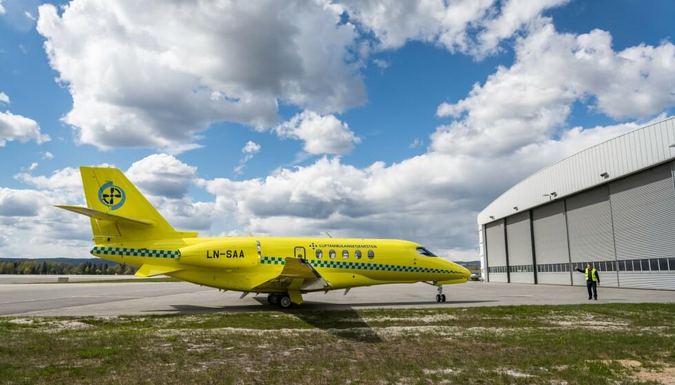 Den nye jeten er den første C680A Latitude som er innredet som ambulansefly. Foto: John Trygve Tollefsen / BSAA / NTB scanpix