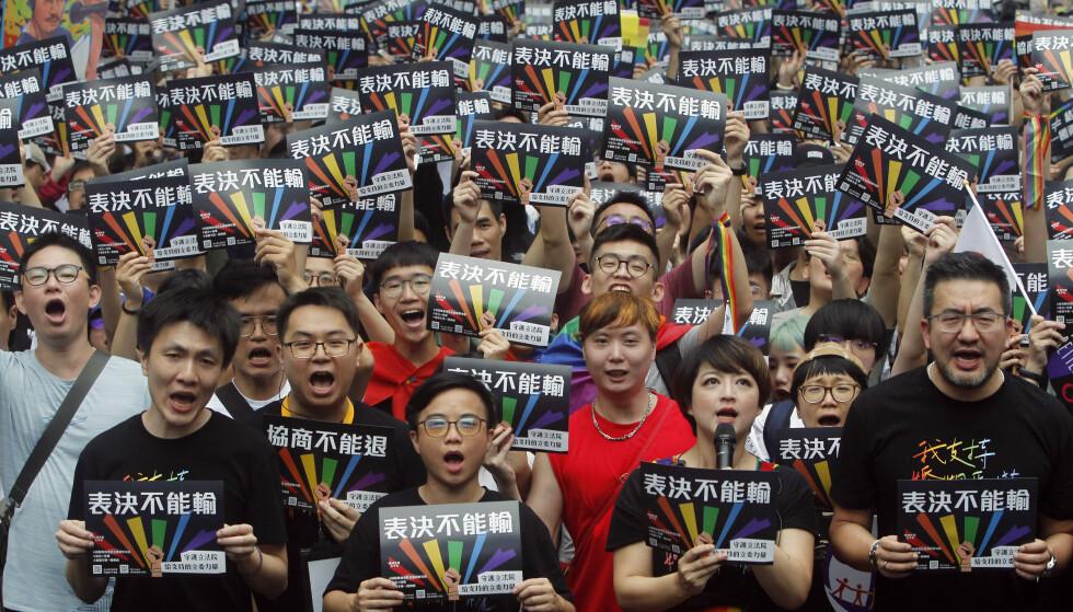 Taiwan sier ja til likekjønnede ekteskap