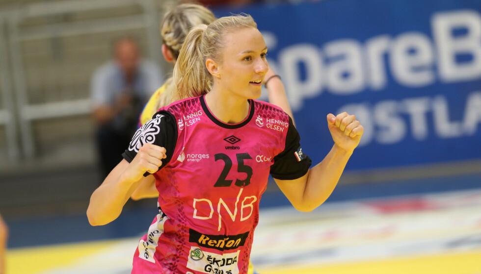 Vipers-spiller Henny Reistad ble sluttspillmester tirsdag. Foto: Geir Olsen / NTB scanpix