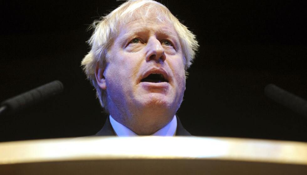 Parlamentsmedlem for De konservative, brexitforkjemper, tidligere utenriksminister og London-ordfører Boris Johnson håper han blir ny statsminister i Storbritannia. Foto: Rui Vieira / AP / NTB scanpix