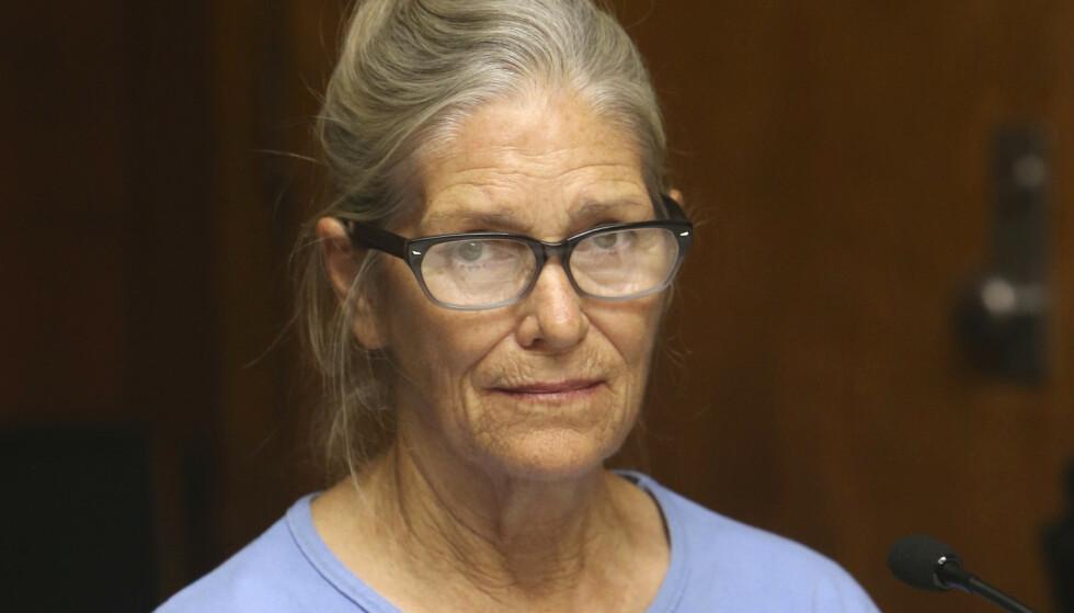 Leslie Van Houten (69) under en høring om prøveløslatelse i 2017. Foto: NTB scanpix / AP