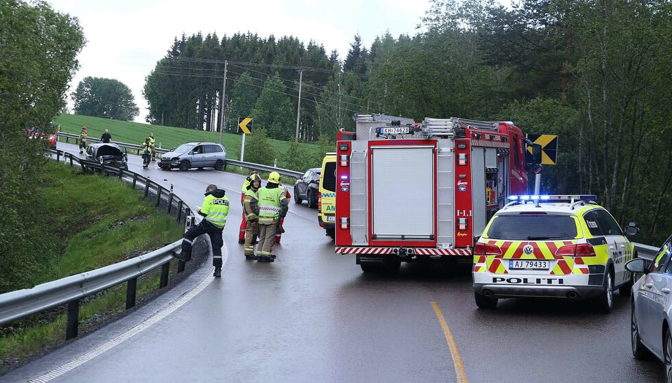 Åtte personer skadd i to ulykker i samme Østfold-kommune
