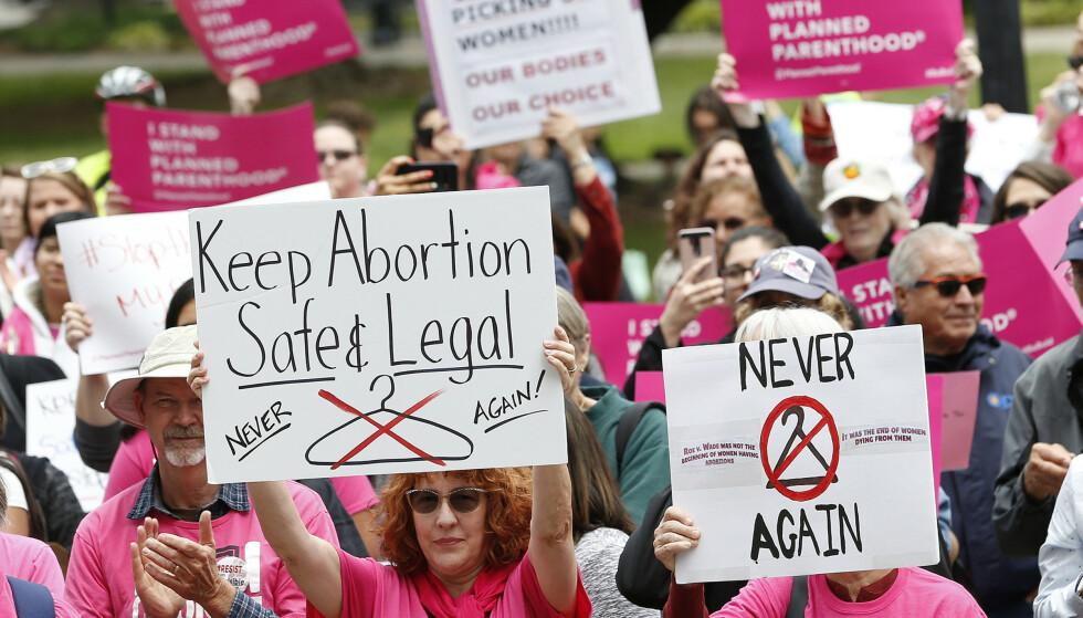 Republikanernes lovforslag om abort i Ohio har utløst protester. Foto: Rich Pedroncelli / AP / NTB scanpix