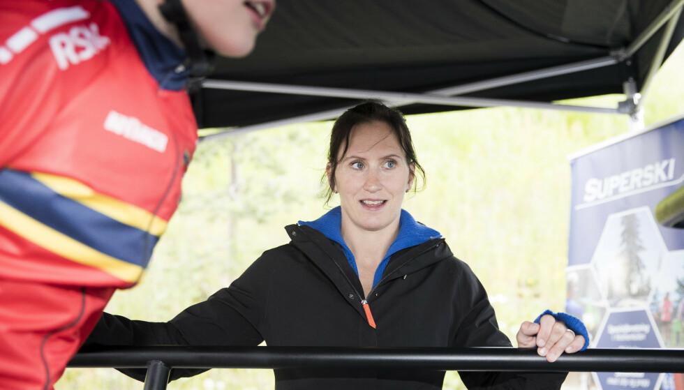 Marit Bjørgen får en rådgiverrolle for trønderske skiløpere kommende sesong. Her under Oslo Skishow i juni. Foto: Terje Pedersen / NTB scanpix