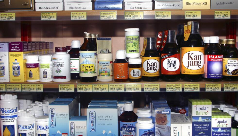 Vitamin- og kosttilskudd forlenger ikke livet, slår amerikanske forskere fast. Illustrasjonsfoto: NTB scanpix