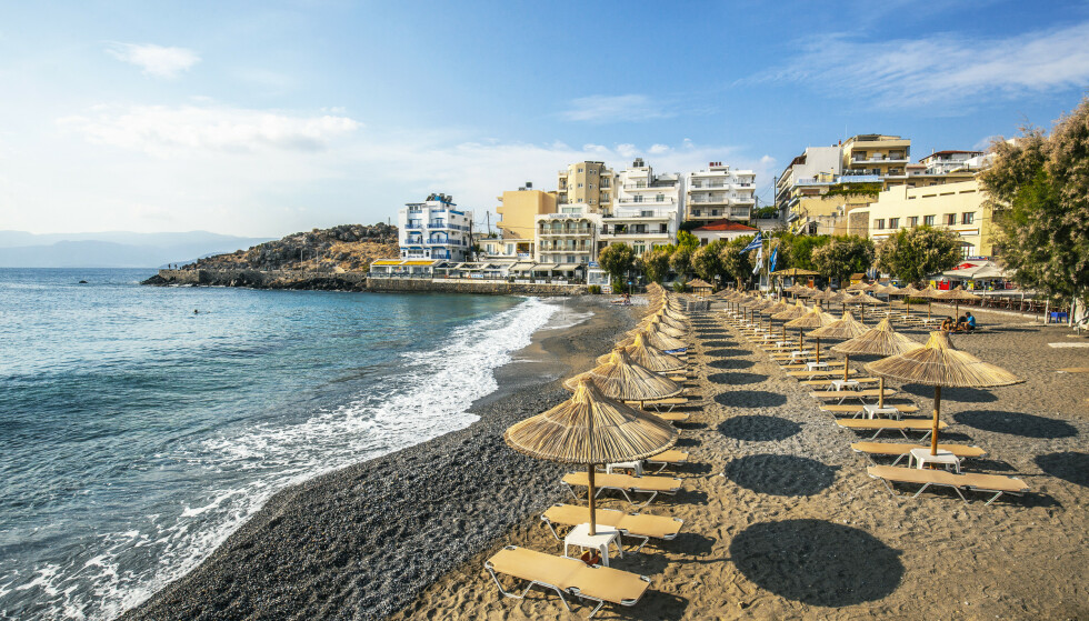 Stranden i Agios Nikolaos, øst på Kreta i Hellas. Foto: Halvard Alvik / NTB scanpix